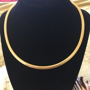 Jewelry - 14kt Yellow Gold Omega Necklace